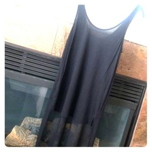 Tank top with flowing sheer material